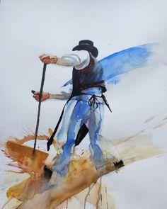 watercolor painting of a Slovak peasant Watercolor Paintings, Art, Idea Paint, Watercolor, Art Background, Water Colors, Kunst, Performing Arts, Watercolour Paintings