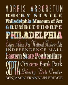 Philly Attraction Poster #philly #sites #attractions #favorites