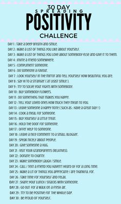 I've created a 30 day spreading positivity challenge! We live in a world that can be pretty messed up sometimes. Happiness Challenge, Love Challenge, Writing Challenge, Friend Challenges, Daily Challenges, Compliment Someone, Positive Self Affirmations, Paz Mental, Self Care Bullet Journal