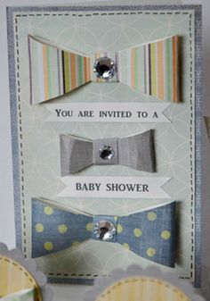 Baby Shower Bow Tie Invitations