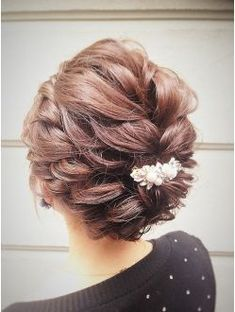 大人気!ショートでもできる編み込みアップ Hair Dos For Wedding, Bridal Hair, Party Hairstyles, Wedding Hairstyles, Cool Hairstyles, Hair Up Styles, Glamorous Hair, Hair Arrange, Hair Setting