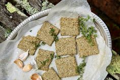 These salty, crunchy, and incredibly delicious crackers are made purely out of sunflower and sesame seeds. I have added a little garlic and herbs for an extra t