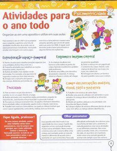 Banco de Atividades: EDUCAÇÃO INFANTIL - psicomotricidade