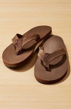 Rainbow Sandals (mocha, size large)