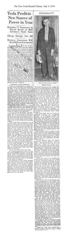 Bonusvolumen - New York Sun Tesla Clipping File - Nikola Tesla - Cars Nikola Tesla, Cheap Energy, Michael Faraday, Tesla Coil, Secrets Of The Universe, New York, Quantum Physics, Science And Nature, Science And Technology