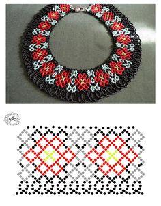 Natali Khovalko Diy Necklace Patterns, Beaded Jewelry Patterns, Beading Patterns, Jewelry Making Classes, Knitted Necklace, Beaded Bags, Bead Jewellery, Handmade Beads, Bead Crochet