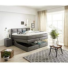 die besten 25 boxspringbett mit bettkasten 160x200 ideen auf pinterest boxspringbett wei. Black Bedroom Furniture Sets. Home Design Ideas