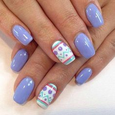 Easter nail art that will make you smile. #BeautyCircle Source || Pinterest #nails #nailart #beauty #YouCamNails