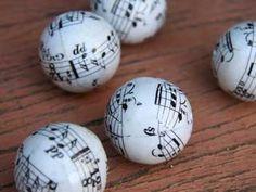 Music paper mache beads