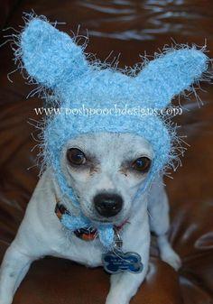 Fuzzy Bunny Dog Hat - Dog Bunny Hat