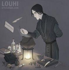 Snape by LouhiArt