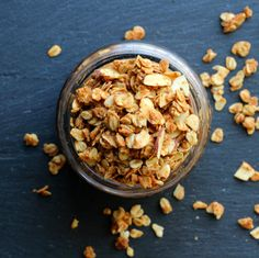 Biscoff Granola - Easy Granola - Biscoff spread - creamy not crunchy - oil - honey - rolled oats - raw almond - ground flax - wheat germ
