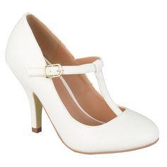 Women's Journee Collection Liza T Strap Pumps : Target white 8.5