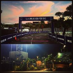 THINK BLUE: Up before the sun for the first of three events this weekend! #LAbig5k #LAmarathon #olympictrials #chronotrack #timers #imtired by chizzle_co