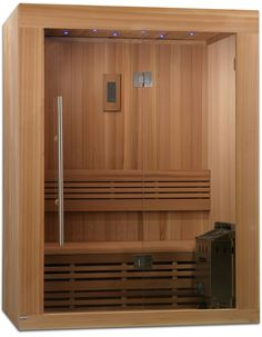 Sundsvall Person Traditional Steam Sauna, Natural Canadian Red Cedar Wood 77 inches high x 66 inches wide x 44 inches long Home Spa, Furniture, House, Interior, Home, New Homes, Traditional Saunas, Bathrooms Remodel, Red Cedar Wood