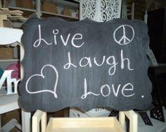 chalkboard wood chalkboard by southernbellesign on Etsy