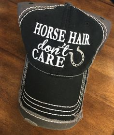 Horse Hair Dont Care Cap