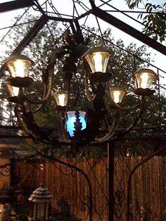 DIY Solar Light Chandelier