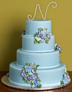 The Nantucket Blue Cake by Jacques Fine European Pastries Trendy Wedding, Diy Wedding, Pastel Wedding Cakes, Blue Cakes, Cake Gallery, Rustic Invitations, Monogram Wedding, Alternative Wedding, Cakes And More