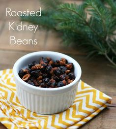 Roasted kidney beans recipe, from Cheap Recipe Blog