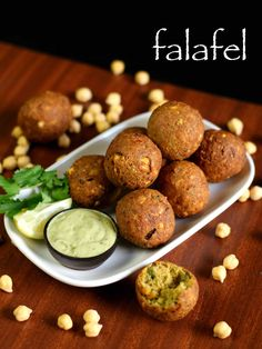 easy falafel recipe, how to make falafel with step by step photo/video. traditional middle east or arab delicacy from chickpea batter served with hummus. Veg Recipes, Spicy Recipes, Cooking Recipes, Bread Recipes, Cake Recipes, Manger Healthy, Chaat Recipe, Indian Dessert Recipes, Indian Snacks