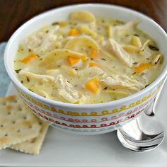 Creamy Chicken Noodle Soup-the perfect classic, hearty, (and healthy) comfort food!
