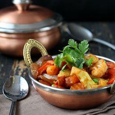Vegetable Jalfrezi - Smoky Tangy Veggie Stir fry. Vegan Glutenfree recipe - Vegan Richa