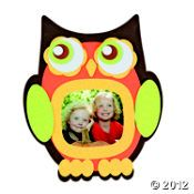 owl picture frame kids craft