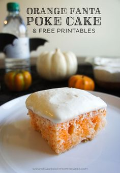 This Orange Fanta Poke Cake is the perfect Halloween treat! It is moist, delicious, and so easy to make! Poke Cake Recipes, Poke Cakes, Cupcake Cakes, Dessert Recipes, Cupcakes, Just Desserts, Delicious Desserts, Yummy Food, Scones