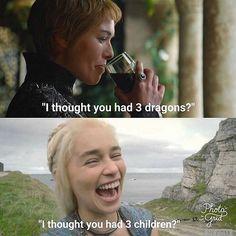 When Cersei meets Daenerys #cerseilannister #lenaheadey #daenerystargaryen #emiliaclarke #GoTS7 #gameofthrones #hbo