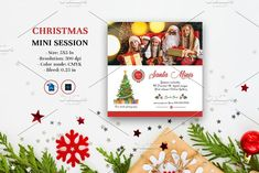Christmas Mini Session V1105 by Template Shop on @creativemarket Christmas Mini Sessions, Christmas Minis, Christmas Holidays, Photography Mini Sessions, Holiday Photography, Photography Marketing, Photoshop Elements, Custom Design, Templates