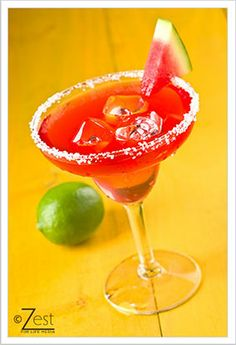 WATERMELON MARGARITA  ------ Ingredients: 1 part Hiram Walker Watermelon Schnapps - 1 part Avion Silver Tequila - 3/4 part Hiram Walker Triple Sec - Fresh lime juice - Watermelon wedge.    DIRECTIONS:- Shake all ingredients with ice and strain into a margarita glass with a salted rim. Garnish with a watermelon wedge.
