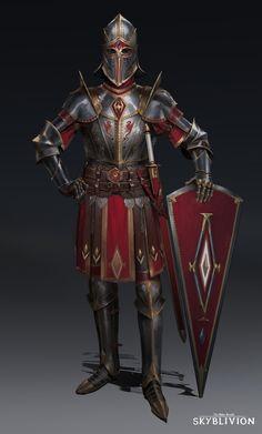 Fantasy Character Design, Character Ideas, Elder Scrolls Games, Military Units, Armor Concept, Chivalry, Fantasy Warrior, Medieval Fantasy, Skyrim