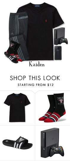 """""""Having Friends Over (Kaiden)"""" by myhappyfamily ❤ liked on Polyvore featuring Ralph Lauren, adidas, Stance, OtterBox, men's fashion and menswear"""