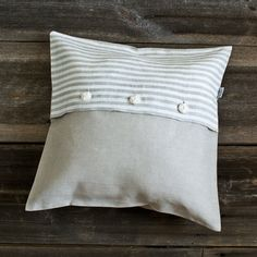 SALE  Pure linen 18 x 18 DECORATIVE PILLOWS/ linen by LinumStudio