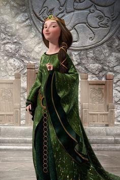 9. Si la Reina Elinor de Valiente (Brave) se soltara el pelo, este mediría dos metros de largo.