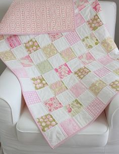 Quilt for a baby girl