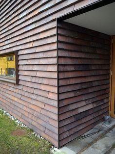 Metal Facade, Metal Cladding, Brick Facade, Facade House, Wall Cladding, Wood Siding House, External Cladding, Cladding Materials, Brick Detail