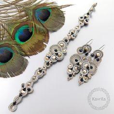 Kavrila - biżuteria autorska . sutasz . soutache: Renire dark sand soutache