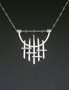 7ffa5e4037b9 Contemporary Jewellery Gallery London Long Contemporary Silver Necklace  Colgantes De Plata