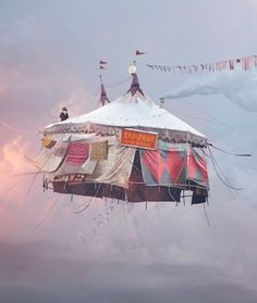 Flying Houses series by Laurent Chehere