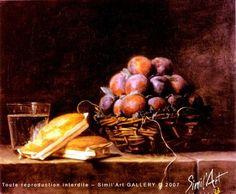 Panier de prunes | Simil'Art Gallery