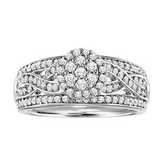 @Overstock.com - Cambridge Sterling Silver 3/4ct TDW Diamond Vintage Braided Ring (I-J, I2-I3) - Round-cut white diamond vintage ringSterling silver jewelryClick here for ring sizing guide  http://www.overstock.com/Jewelry-Watches/Cambridge-Sterling-Silver-3-4ct-TDW-Diamond-Vintage-Braided-Ring-I-J-I2-I3/8136745/product.html?CID=214117 $260.99