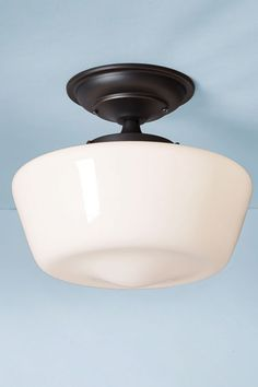 Inexpensive (about $38) schoolhouse lights available at Wayfair