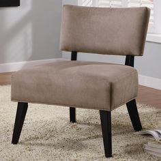 Accent Seating Light Brown Upholstered Accent Side Chair