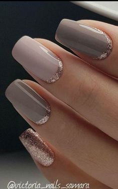 Grey is the new black and one of the hottest nail colors this season! Take a look at these stunning 40 grey acrylic nail designs for your inspiration! Grey Acrylic Nails, Neutral Nails, Gold Nails, Nude Nails, Neutral Colors, Coffin Nails, Glitter Nails, Acrylic Nail Designs Coffin, Pointy Nails