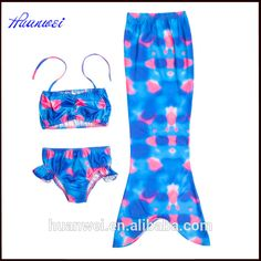 2019 Fashion Childrens Split Swimsuit Bikini Mermaid Tail And Wings Swimsuit Girl Swimming Mermaid Tail Cosplay Costume Refreshing And Beneficial To The Eyes Mother & Kids