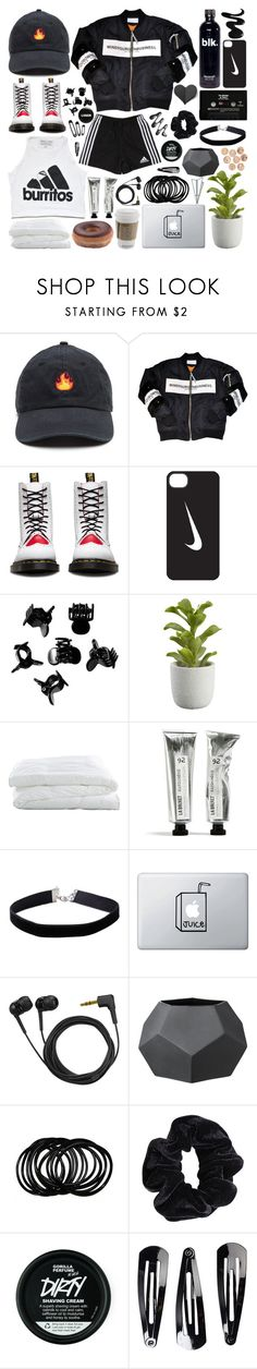 """Update (RTD)"" by baekyeoltaekook ❤ liked on Polyvore featuring Dr. Martens, Urban Outfitters, NIKE, Clips, H&M, Crate and Barrel, Miss Selfridge, Sennheiser, Bloomingville and Plane"