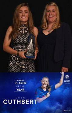 10/05/2019 - What an excellent 2018/19 for Erin Cuthbert, our Women Player of the Year!