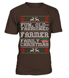 Fun Old Fashioned Farmer Family Christmas Ugly T Shirts  #gift #idea #shirt #image #funny #job #new #best #top #hot #engineer